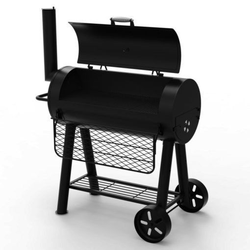 Open lid Dyna-Glo Signature Series Heavy-Duty Barrel Charcoal Grill - DGSS675CB-D