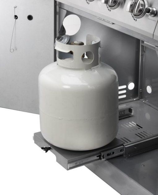 Sliding propane tank tray Dyna-Glo 5 Burner Stainless Steel LP Gas Grill - DGE530SSP-D